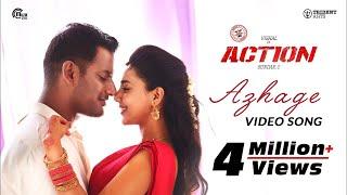 Action   Azhage Video Song   Vishal, Aishwarya Lekshmi   Hiphop Tamizha   Sundar.C
