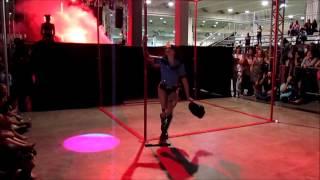 Tatiana Andrade winner 1 lugar Profissional Pole Dance Competition Erótika Fair 2014