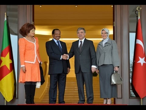 President Paul Biya at Çankaya Presidential Palace 26.03.2013