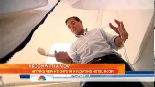 Inflatable floating hotel room costs $50K.