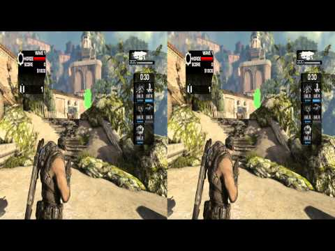 Gears of War 3 in 3D Side by Side 1080P