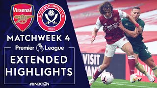 Arsenal v. Sheffield United | PREMIER LEAGUE HIGHLIGHTS | 10/4/2020 | NBC Sports