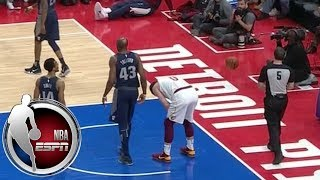 Kevin Love breaks hand in first quarter of Cavaliers-Pistons | ESPN