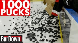 USING 1,000 PUCKS IN HOCKEY WARMUPS