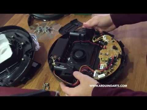 Using the Carrefour Vacuum Robot as a robotic platform for Arduino
