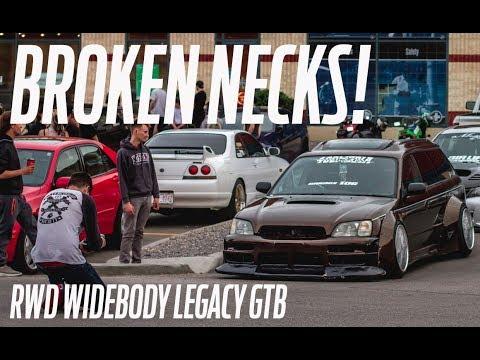Took the Legacy to a car meet! BROKEN NECKS!