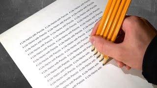 4 Life Hacks with Pencils