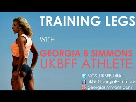Training Legs With Bikini Champion Georgia B Simmons (Part 1)