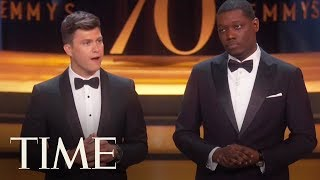 Michael Che And Colin Jost Tackle Hollywood Issues During 2018 Emmys | TIME