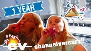 OUR 1 YEAR CHANNELVERSARY!! | 1 year on YouTube