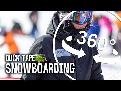 Duck Tape® Road Trip: Experience a 360 View of Snowboarding at Mt. Baker