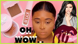 FULL FACE OF KYLIE COSMETICS ON BROWN SKIN 2019