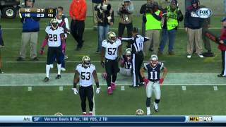 New England Patriots final drive against New Orleans Saints On October 13 (week 6)