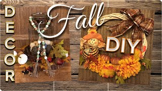 DOLLAR TREE DIY | Wood Bead Garland | Fall Vine Wreath | September 2019