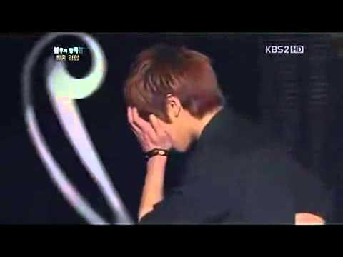 Jjong's reaction when he won against Yesung