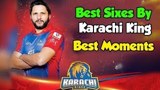 Best Sixes By Karachi King   Best Moments   HBL PSL