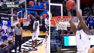 Zion Williamson is UNFAIR! RIDICULOUS BLOCK & CRAZY HIGH ALLEY OOP vs Virginia Tech | March 29, 2019