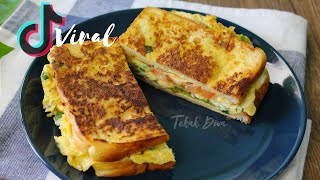 TIK TOK VIRAL BREAKFAST SANDWICH | SANDWICH VIRAL TIK TOK | MENU RINGKAS RAMADHAN