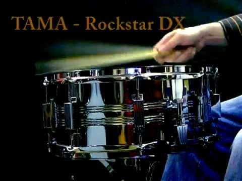 Tama Rockstar DX  steel snare audio test