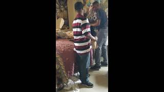 Dude slaps and kicks a guy out his own house