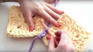 Crochet 101: How to do a Flat Slip Stitch Join   Blitsy