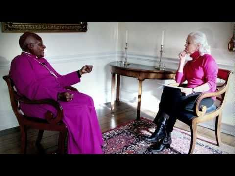 Peace prize laureates Desmond Tutu and Scilla Elworthy in ...