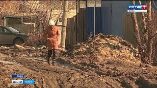 Жители частного сектора Кировского округа Омска могут пройти по своей улице только в высоких резиновых сапогах