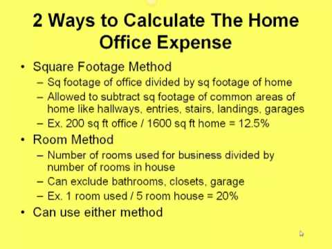 Taking The Home Office Deduction