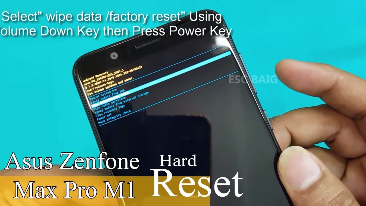 New Asus Zenfone Max Pro M1- Hard Reset || Pattern Unlock