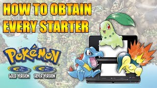 HOW TO GET EVERY STARTER IN POKEMON GOLD & SILVER 3DS