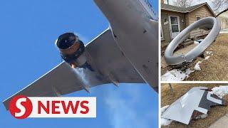 United Airlines Boeing 777 lands safely in Denver after engine failure