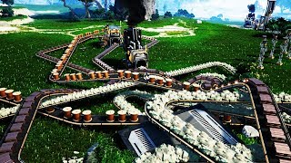 What Happens When You Let a Maniac Build a Factory - Satisfactory gameplay - Let's Game It Out