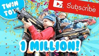 Nerf War :  1 MILLION SUBSCRIBERS!!!