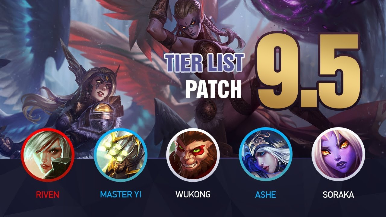 League of Legends Mobalytics Patch 9 5 Tier List: New Kayle and Morgana!