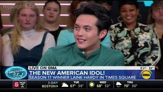 American Idol Winner Laine Hardy Visits Good Morning America