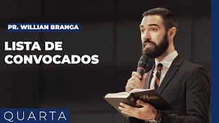 05/05/21 - LISTA DE CONVOCADOS | Pr. Willian Branga