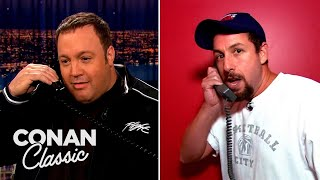 "Adam Sandler Prank Calls Kevin James - ""Late Night With Conan O'Brien"""