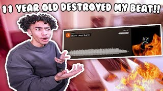 11 Year Old DESTROYED My Beat!!! I Let My Subscribers Rap On My Beat And They MURDERED It