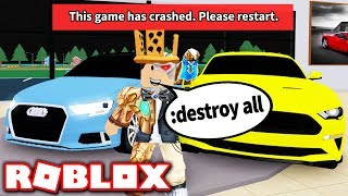 I bought ADMIN COMMANDS in Vehicle Tycoon... and broke the game?! (Roblox)