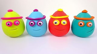 Learn Colors And Numbers With Play-Doh Eggs And Fun Dough  Cutters