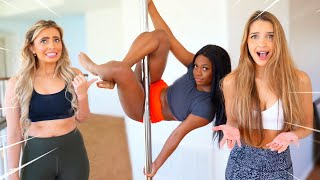 We Try Pole Dancing For The First Time!