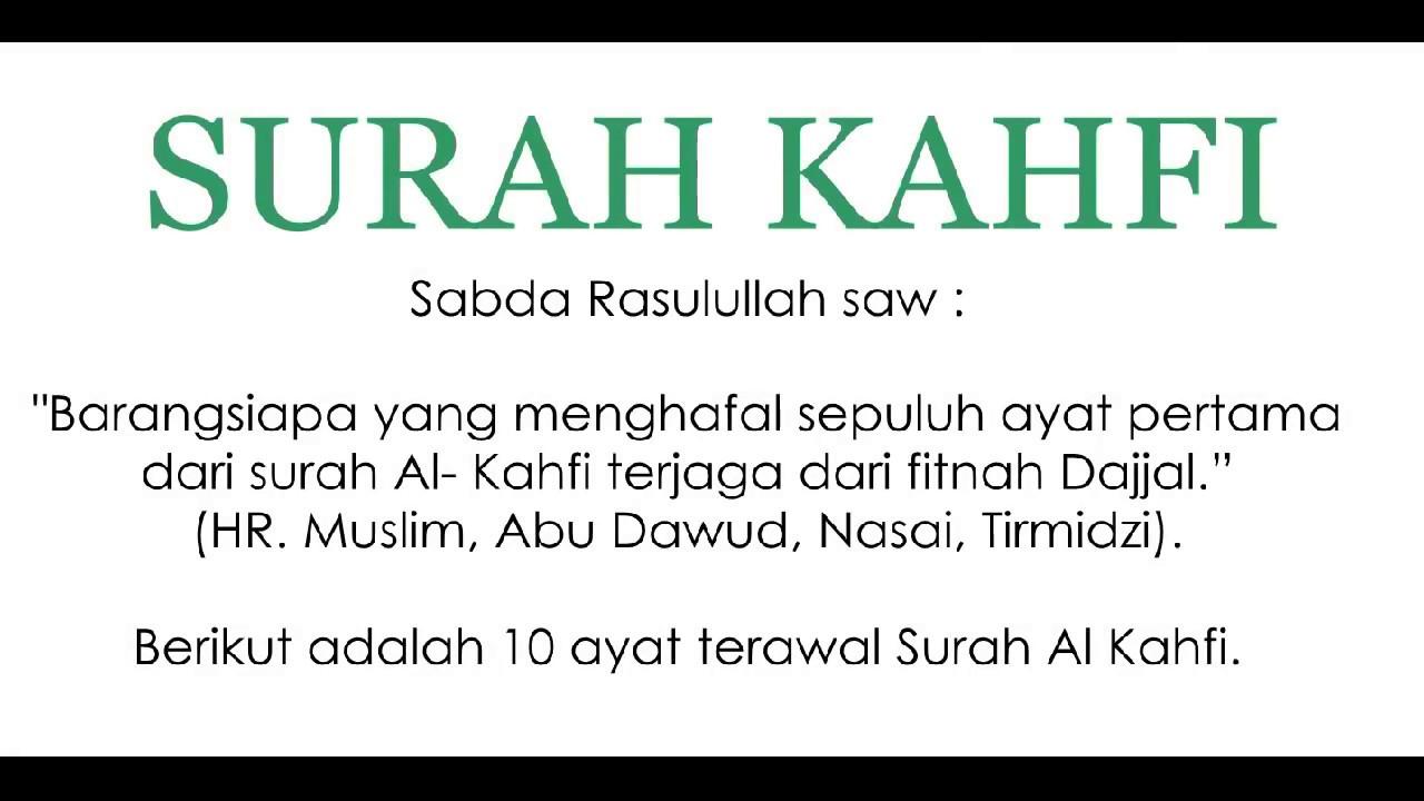 Surah Al Kahfi 10 Ayat Pertama Pelindung Fitnah Dajjal