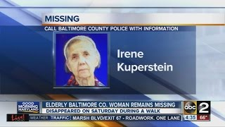 Police search for elderly missing woman