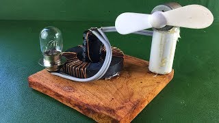 Magnets Coil Generator Using Copper Wire 2018 | New Science Experiment Project At Home