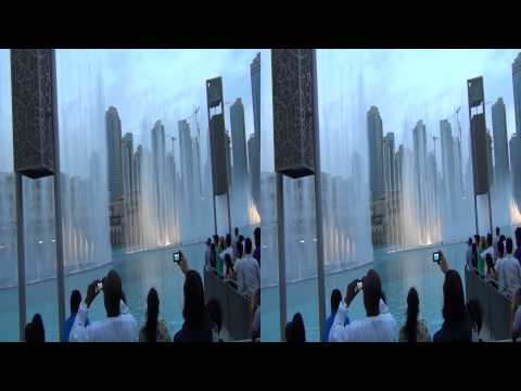 Dubai Sightseeing - Burji Khalifa; Dubai Mall; Dubai Fountain Area in 3D