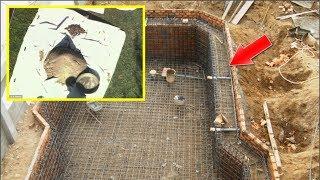 Chồng muốn xây hồ bơi sau nhà , thợ xây vừa đào lên phát hiện sự thật kinh hoàng