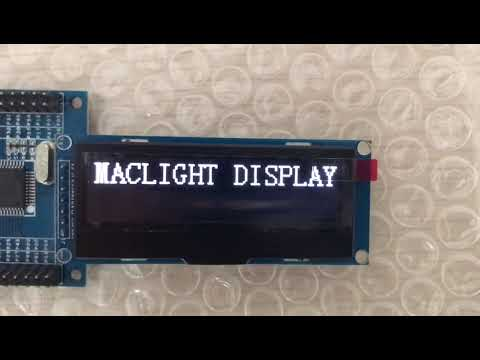 Demo Of 2.23 inch monochrome graphic oled display panel