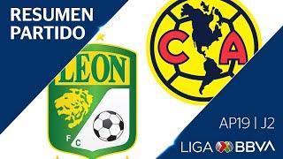 Resumen | León vs América | Liga BBVA MX - Apertura 2019  - Jornada 2