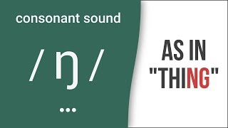 "Consonant Sound / ŋ / (NG) as in ""thing""- American English Pronunciation"