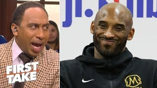Stephen A. says Kobe denies attending Lakers' practices, refuting Lance Stephenson | First Take